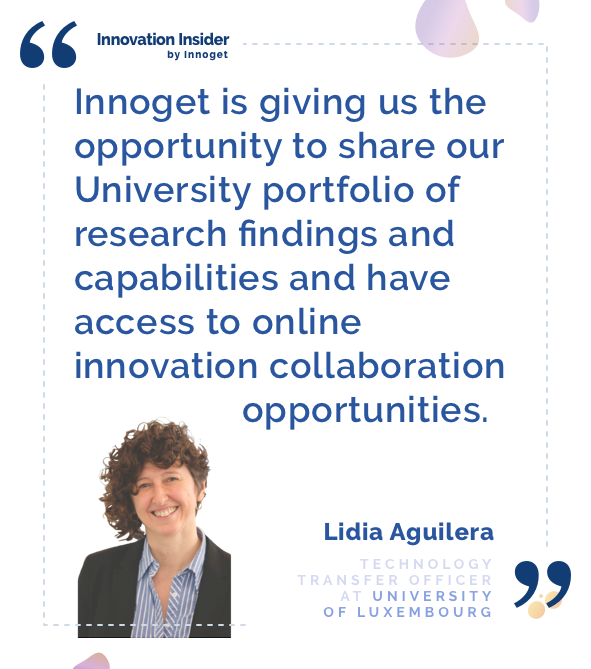 Innovation Insider: An interview with Lidia Aguilera, Technology Transfer Officer at the University of Luxembourg