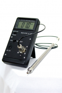 Portable cavitometer for measurement and control of the cavitation activity in high-power ultrasonic fields and hydrodynamic cavitation meters